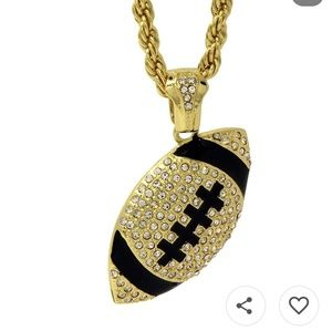 Jewelry - 14 kt. gold plated CZ Football